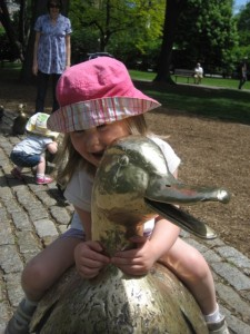 "The ""Make Way for Ducklings"" Scupture in the Public Garden"